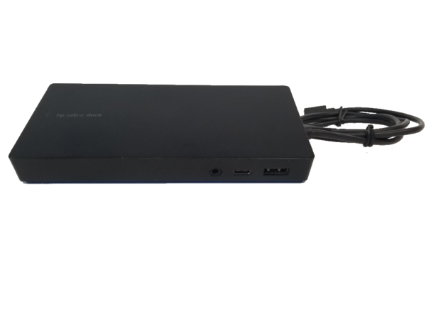 This photo shows a HP Docking Station