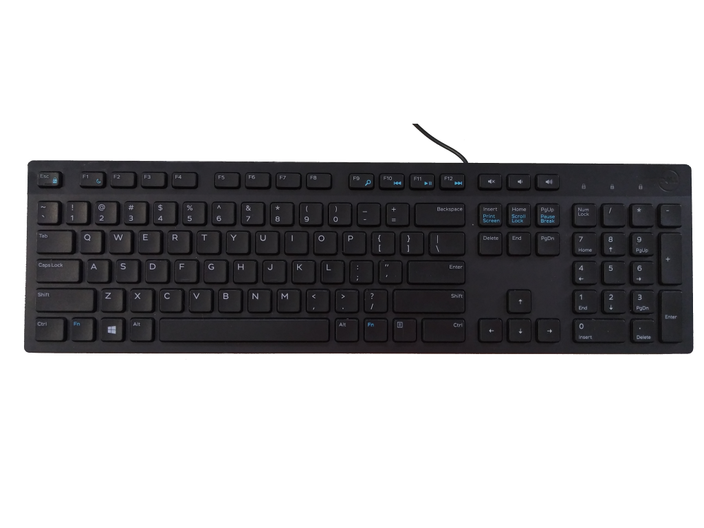 This photo shows a Dell USB Keyboard