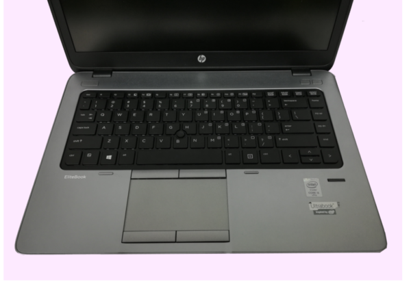 This photo shows the keyboard on an HP 840 G1